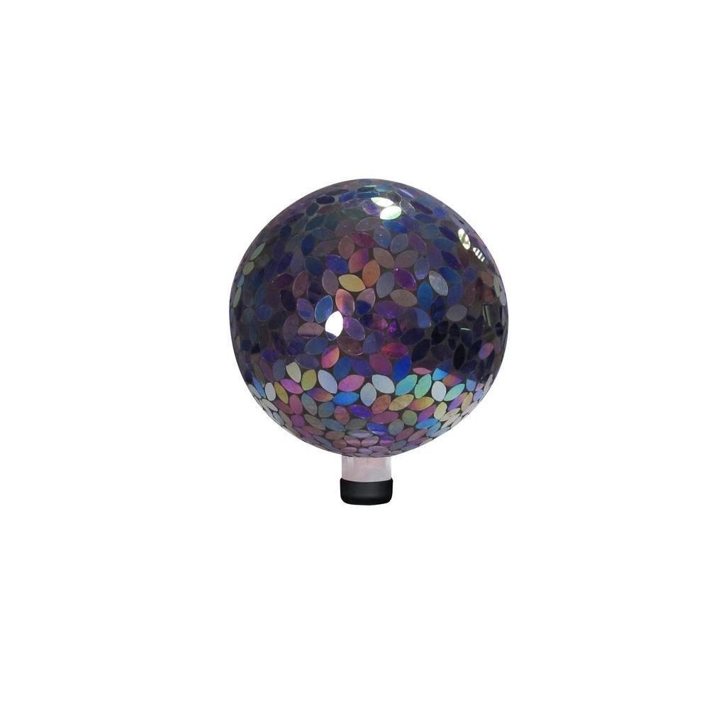 10 in. Purple Mosaic Gazing Ball