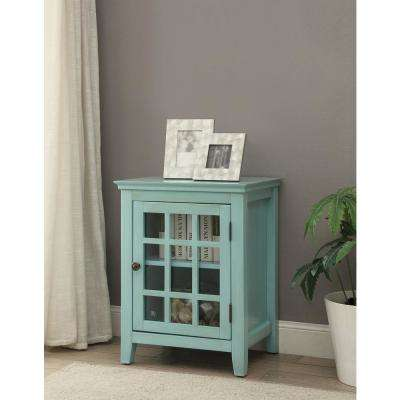 Largo Antique Turquoise Storage End Table