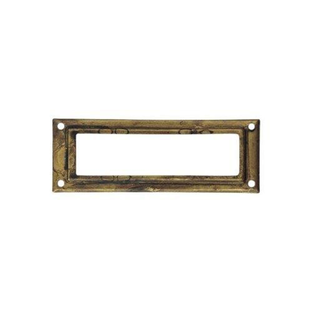 3.15 in. Antique Brass Distressed Card Holder