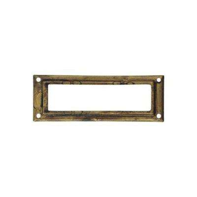 3.15 in. Antique Brass Dark Pull Card Holder