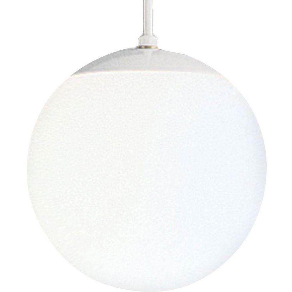 Progress Lighting 1 Light White Pendant With White Opal
