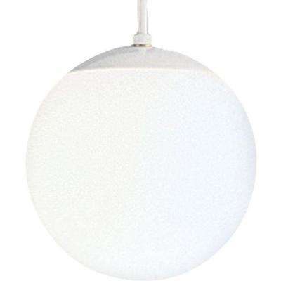 1-Light White Pendant with White Opal Glass