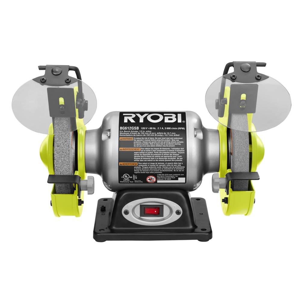 Pleasing Ryobi 2 1 Amp 6 In Grinder With Led Lights Caraccident5 Cool Chair Designs And Ideas Caraccident5Info