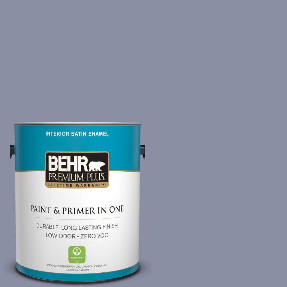 1-gal. #620F-4 Violet Shadow Zero VOC Satin Enamel Interior Paint