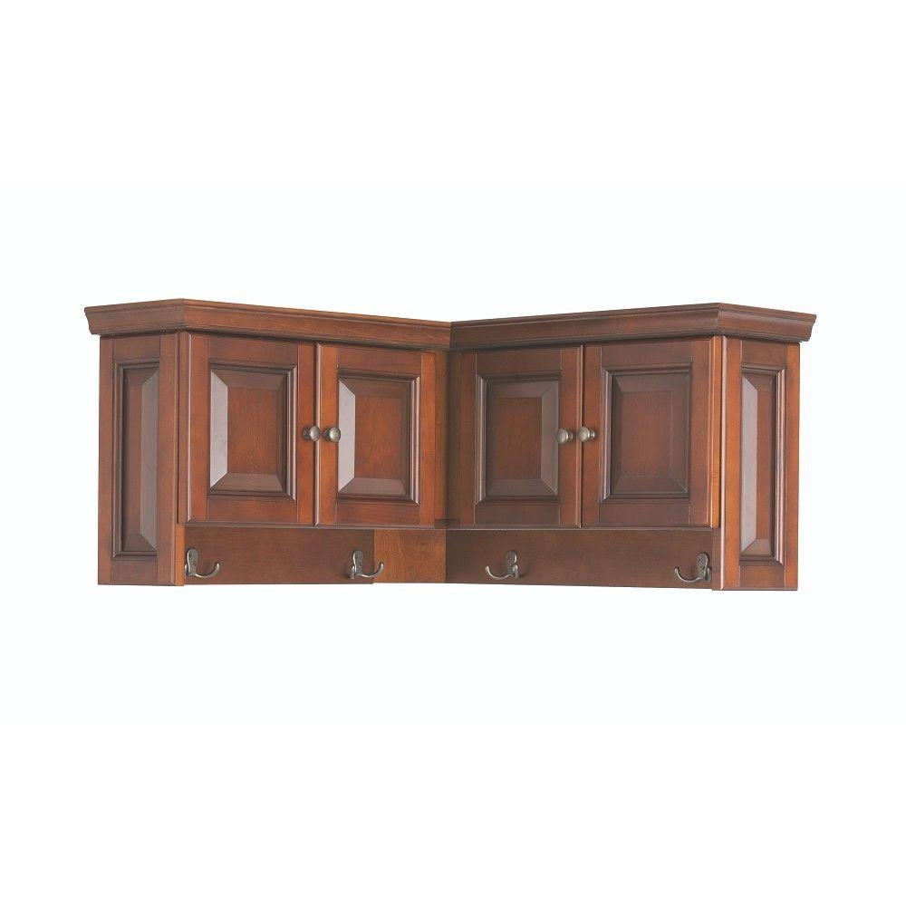 Home Decorators Collection Walker 16 In H X 30 In W X 30 In D Wooden Corner Wall Cabinet In