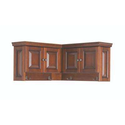 Walker 16 in. H x 30 in. W x 30 in. D Wooden Corner Wall Cabinet in Chestnut