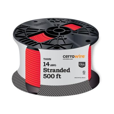 500 ft. 14/1 Red Stranded THHN Wire