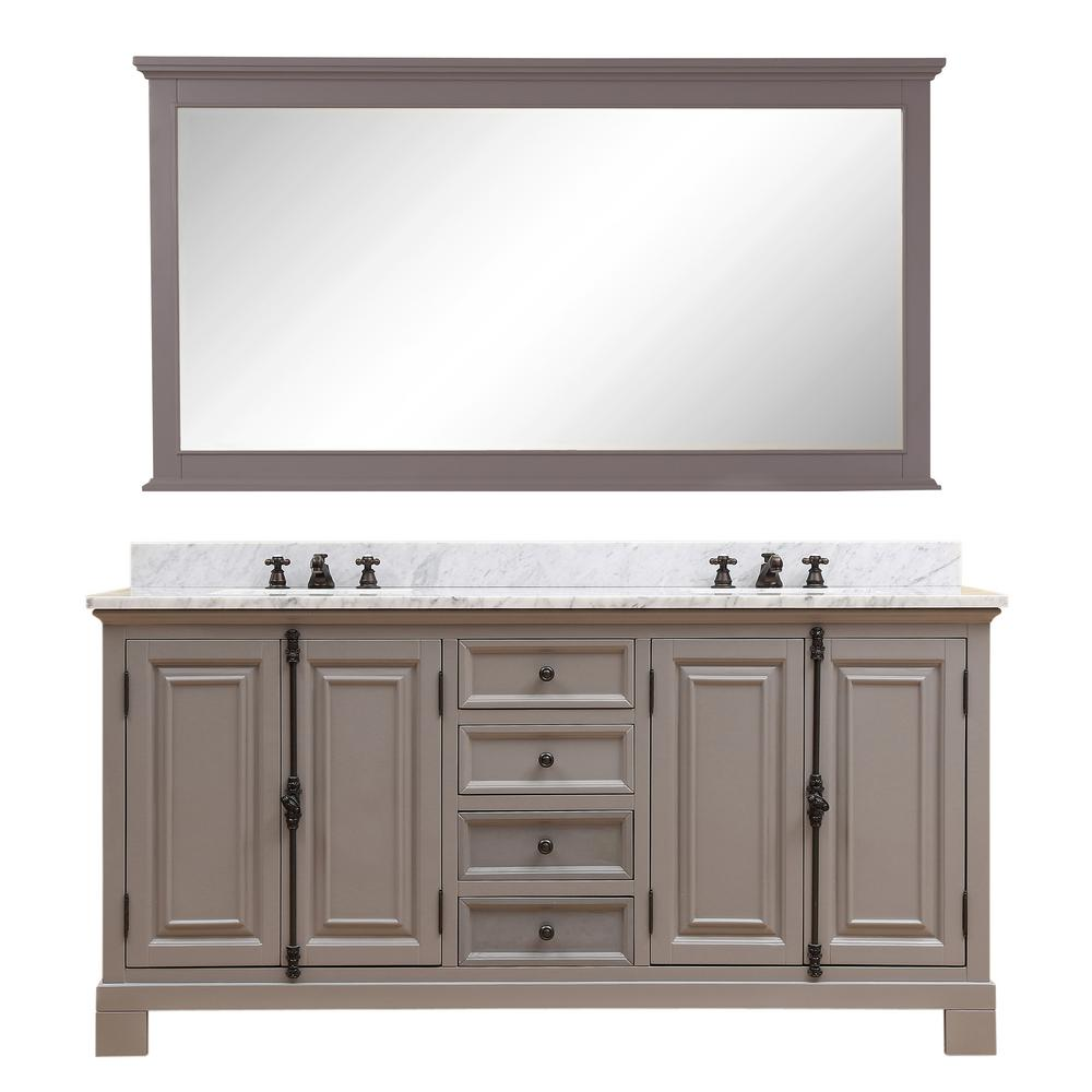 Greenwich 60 in. W x 22 in. D Vanity in Gray