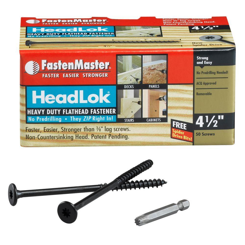 HeadLok 4-1/2 in. Heavy Duty Flathead Fastener (50-Box)