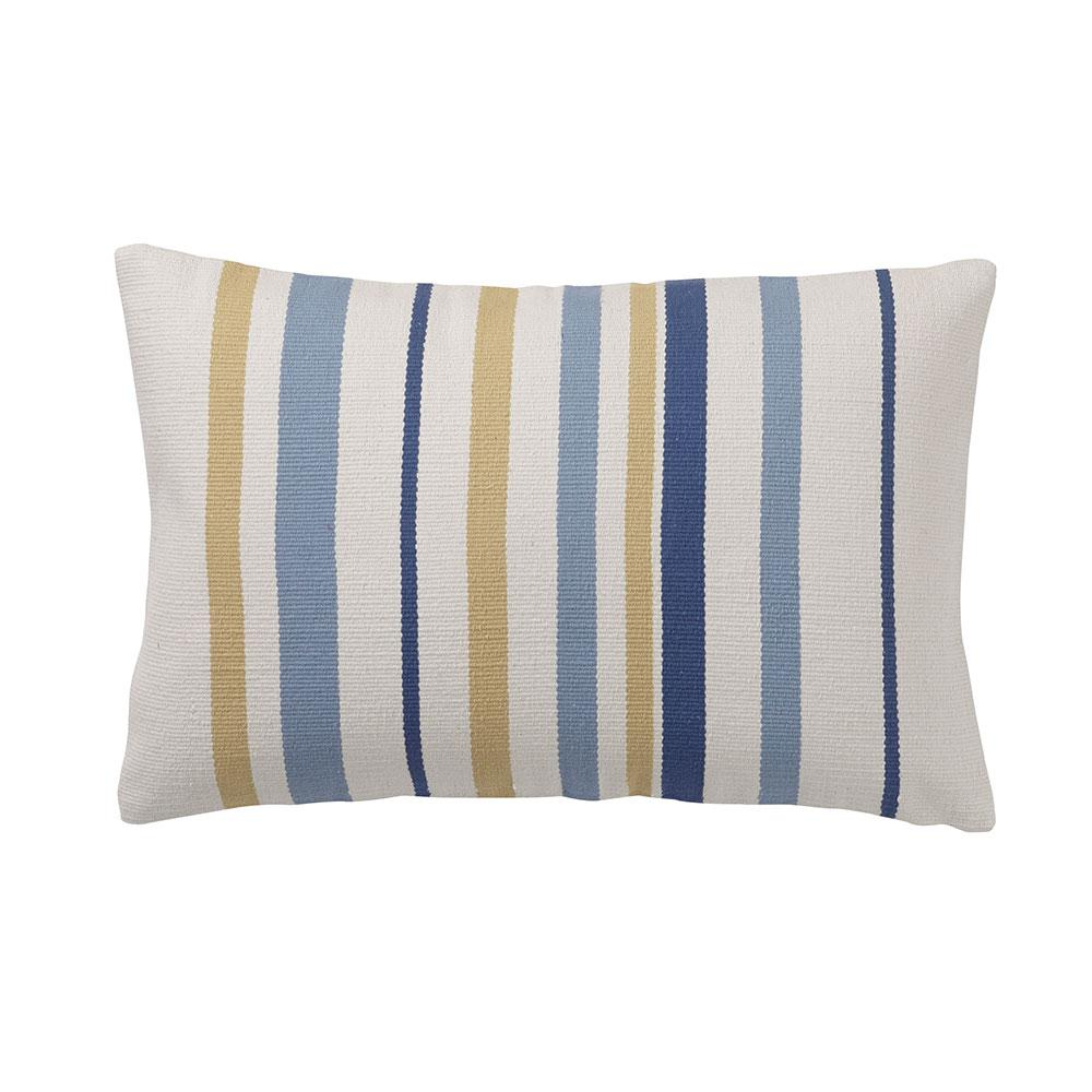 Cstudio Home By The Company Brooklyn 16 In X 24 Blue Striped Pillow Cover 40051 16x24 Depot