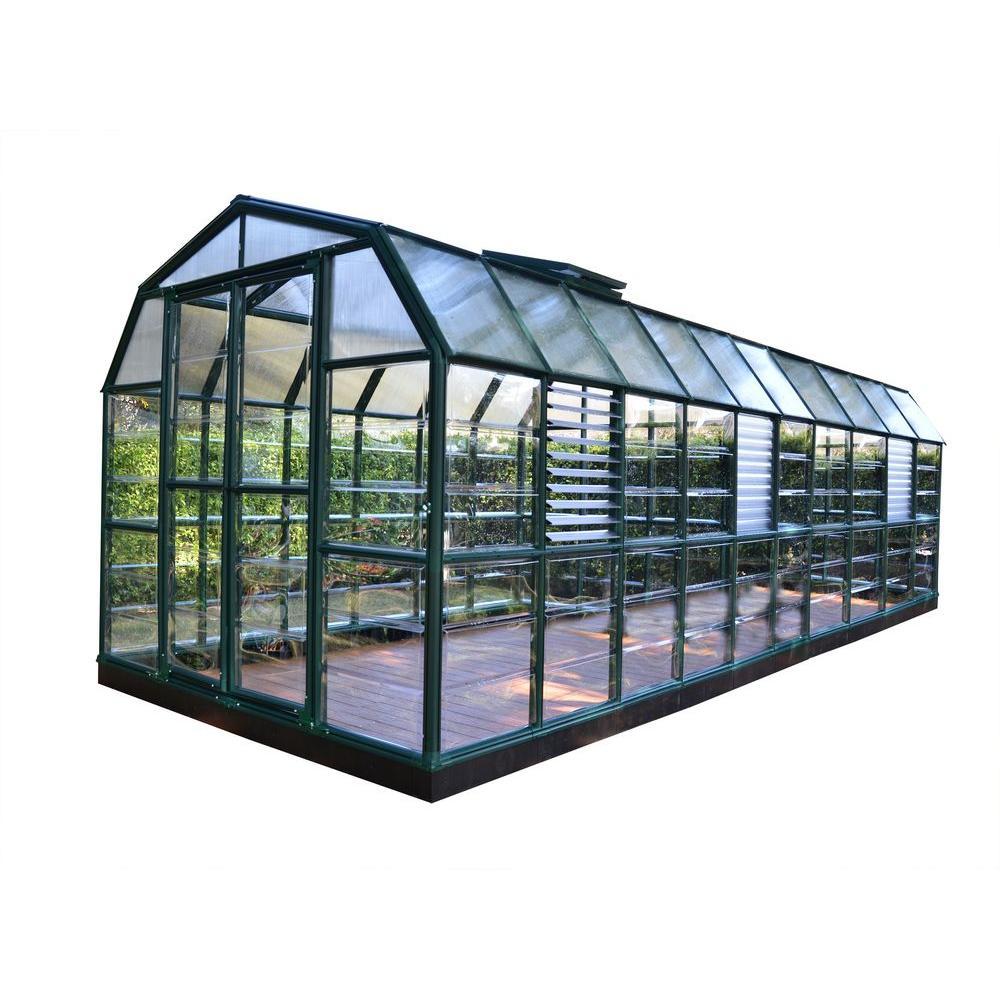 Window Greenhouse Insert Kitchen Window Greenhouses: Rion Prestige 8 Ft. X 20 Ft. Clear Greenhouse-702507