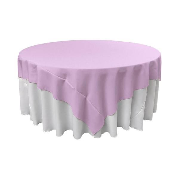 72 in. x 72 in. Lilac Polyester Poplin Square Tablecloth