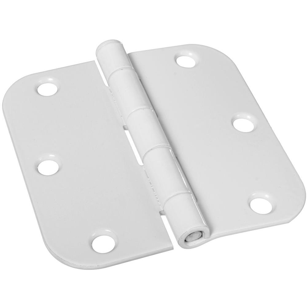 Stanley-National Hardware 3-1/2 in. White Door Hinge