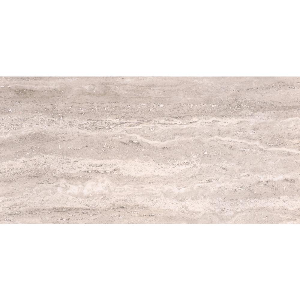 42b5fcd21d5f13 Pietra Trevi White 12 in. x 24 in. Polished Porcelain Floor and Wall Tile  (16 sq. ft.   case)
