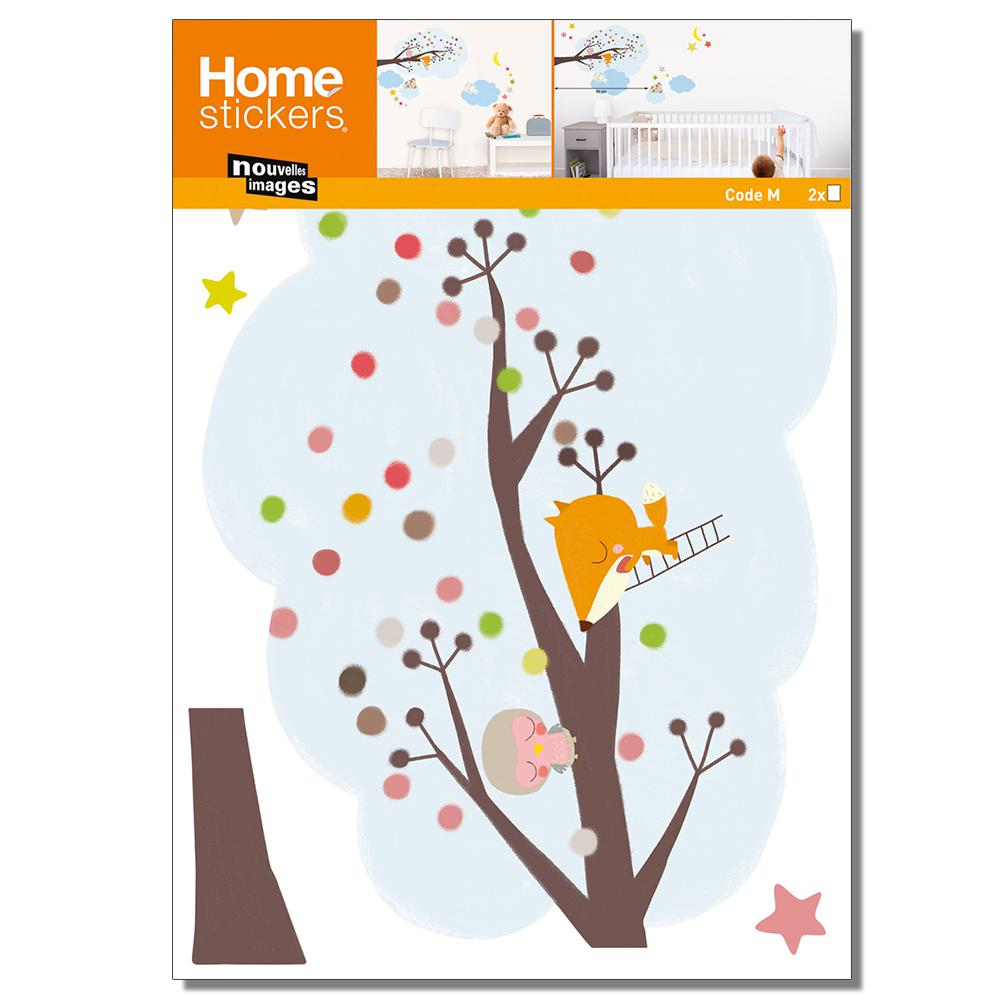 Nouvelles Images Multicolor Sleeperskids Wall Decals Home Sticker