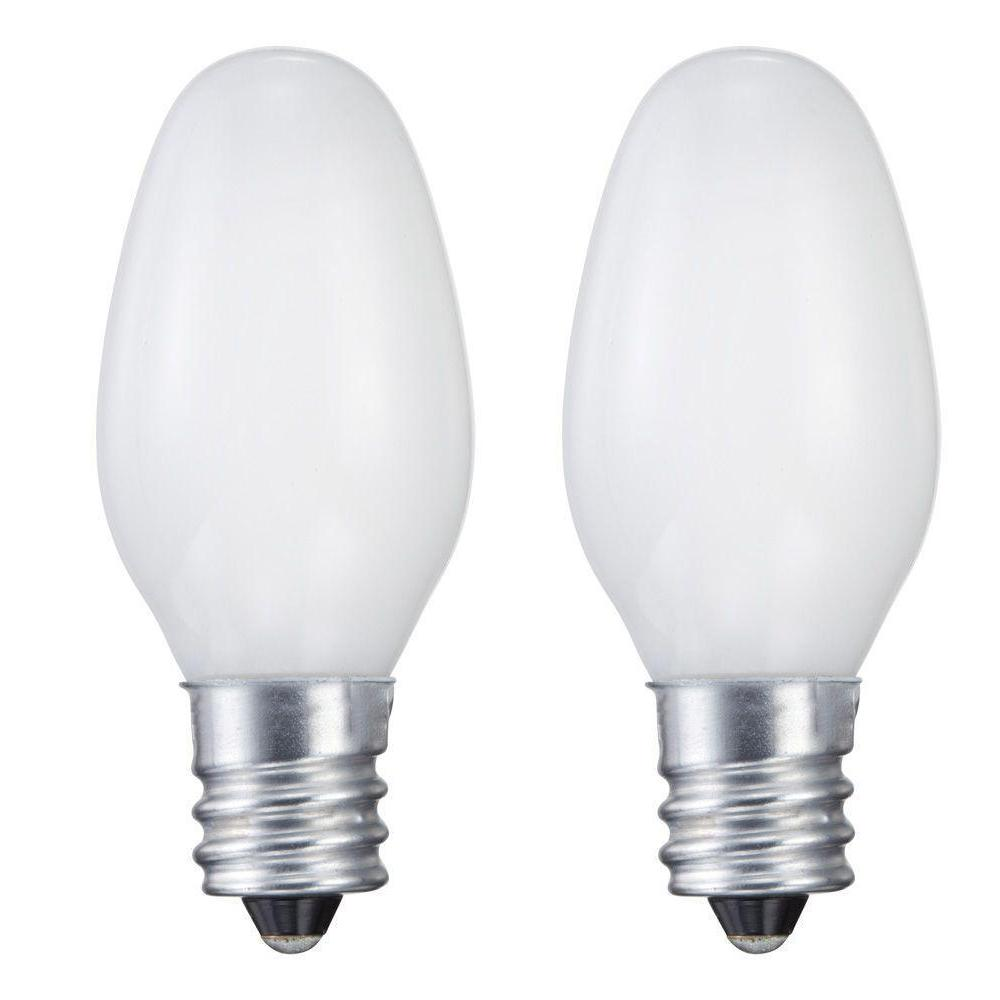 Philips 7 Watt C7 Incandescent Night Light Bulb 2 Pack