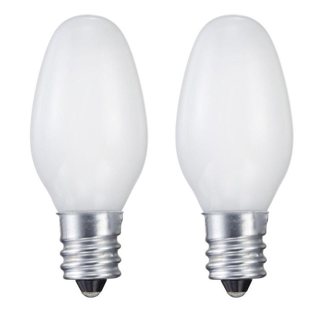7-Watt C7 Incandescent Night Light Bulb (2-Pack)