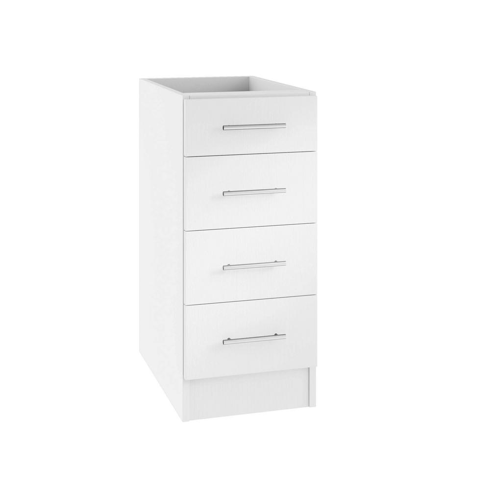4 Drawer Kitchen Cabinet WeatherStrong Assembled 24x34.5x24 in. Naples Open Back Outdoor