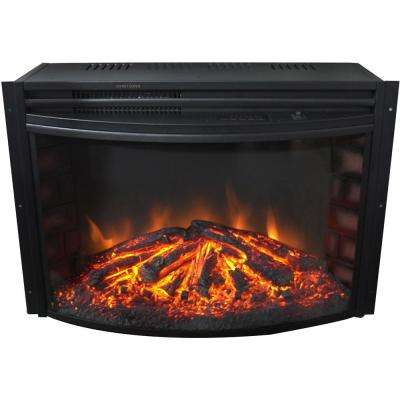 25 in. Freestanding 5116 BTU Electric Curved Fireplace Insert with Remote Control