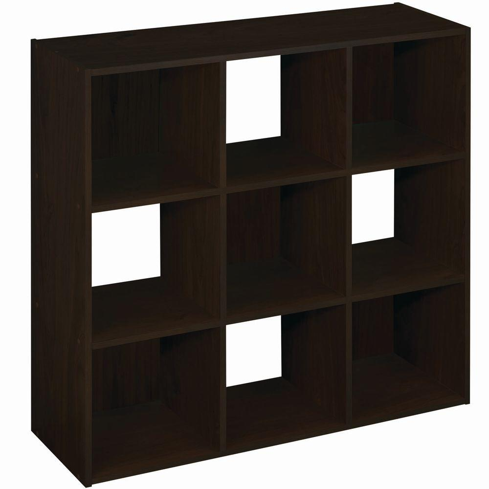 36 in. W x 36 in. H Espresso Stackable 9-Cube Organizer