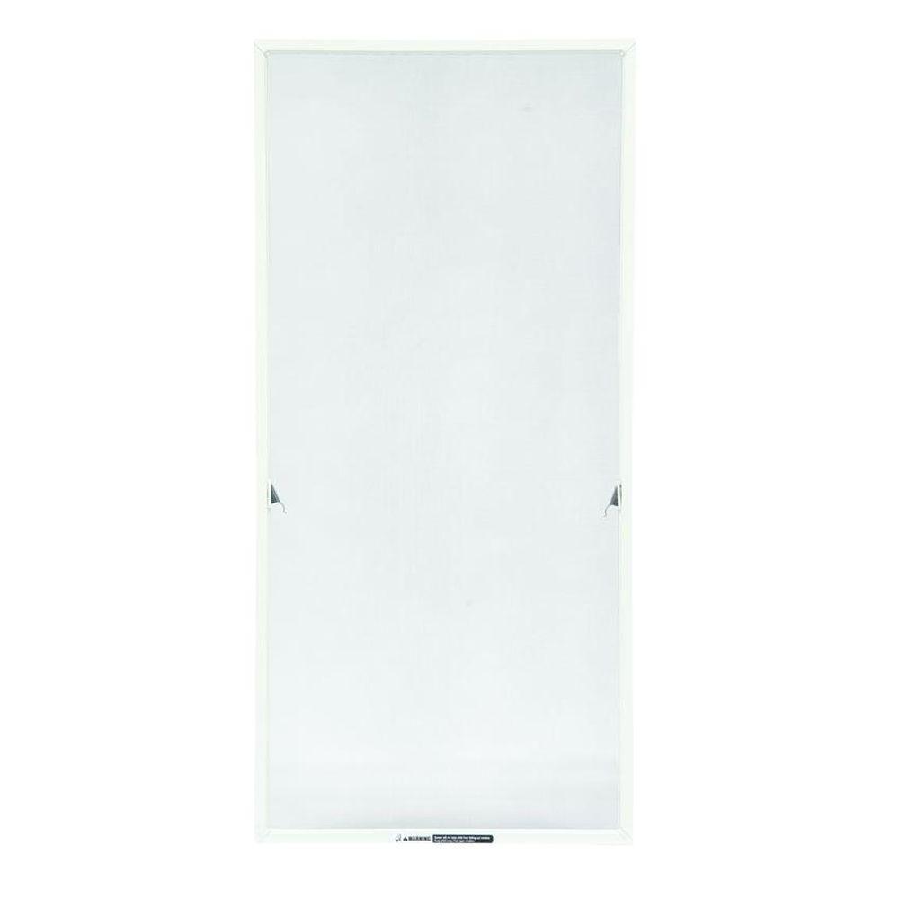 TruScene 20-11/16 in. x 55-13/32 in. White Aluminum Casement Insect Screen