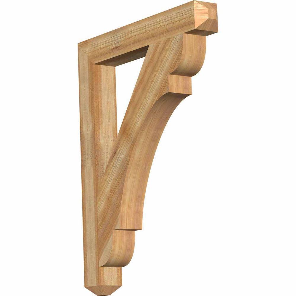 Ekena Millwork 4 in. x 38 in. x 30 in. Western Red Cedar Olympic Craftsman Rough Sawn Bracket