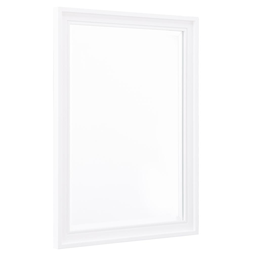 Home Decorators Collection Shaelyn 24 in. W x 32 in. H Single Framed Wall Mirror in White
