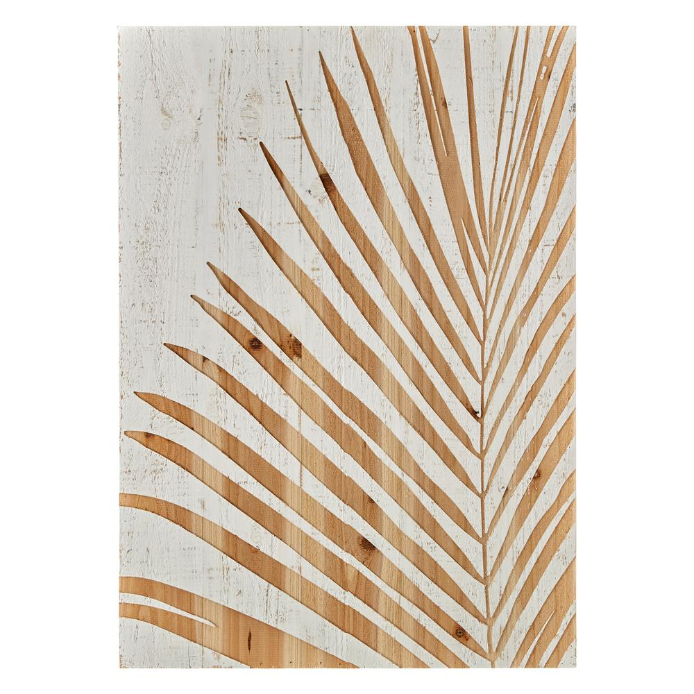 Graham Brown 28 In X 20 In Palm Leaf Laser Cut Wood Wall Art