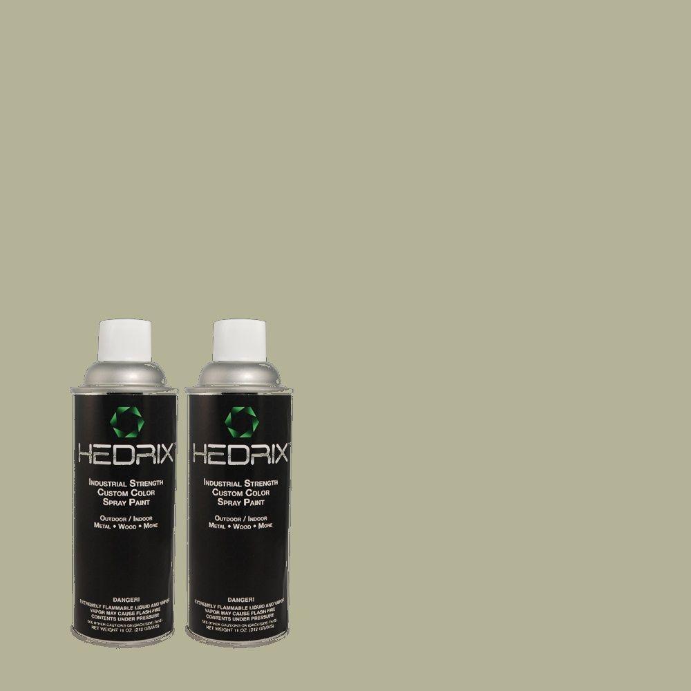Hedrix 11 oz. Match of C40-84 Mississippi Moss Semi-Gloss Custom Spray Paint (2-Pack)