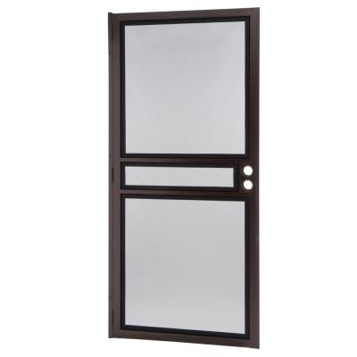 36 in. x 80 in. Copper Surface Mount ClearGuard Security Door with Meshtec Screen