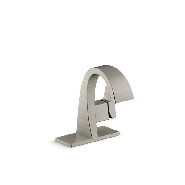 Katun Single Hole 1-Handle Bathroom Faucet in Vibrant Brushed Nickel