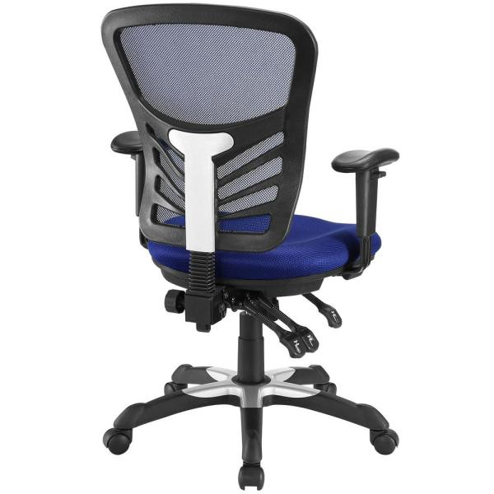 Modway Articulate Mesh Office Chair In Blue Eei 757 Blu The Home Depot