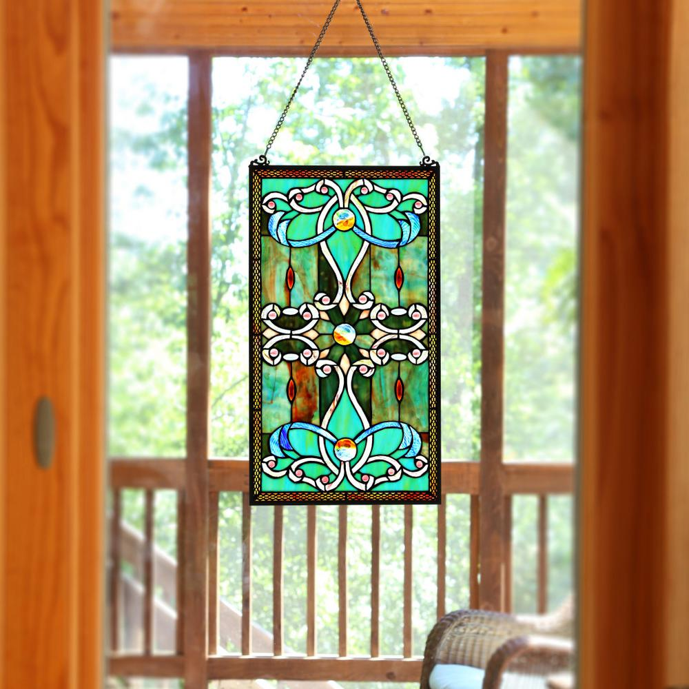 River Of Goods Green Stained Glass Brandi's Window Panel