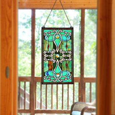Green Stained Glass Brandi's Window Panel