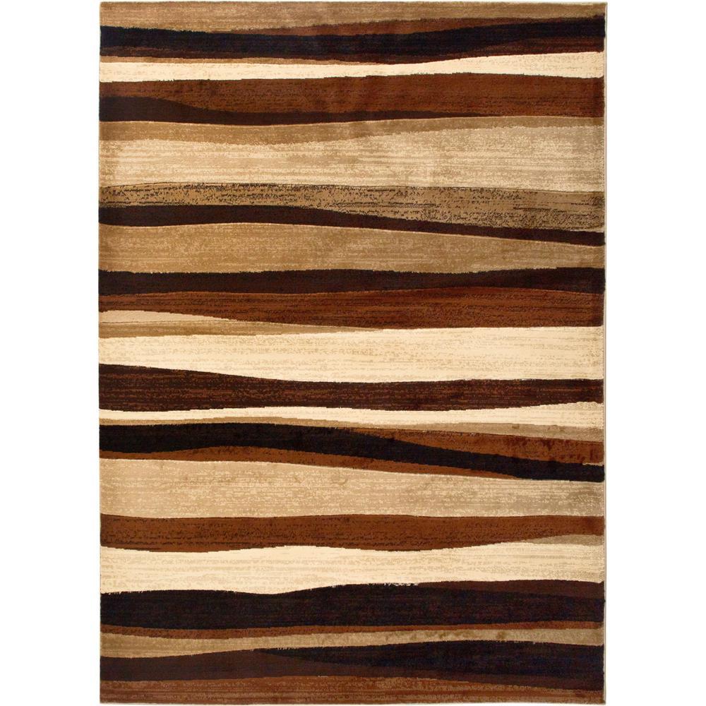 Tribeca Brown 8 ft. x 11 ft. Indoor Area Rug