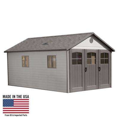 11 ft. x 18.5 ft. Storage Shed with 9 ft. Wide Carriage Door