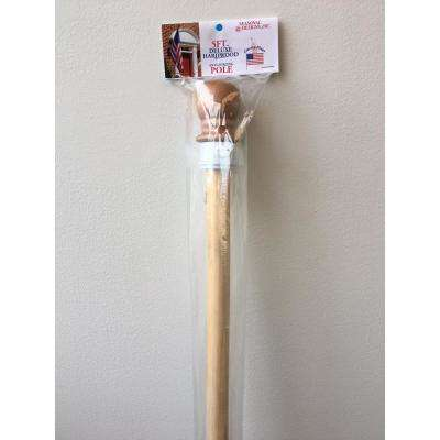 5 ft. Hardwood 1 in. Wooden Pole with Anti Furling Ring