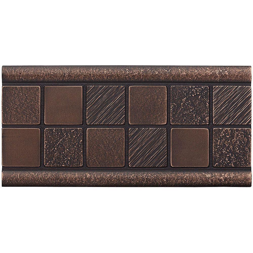 Weybridge 3 in. x 6 in. Cast Metal Mosaic Deco Dark Oil Rubbed Bronze Tile (10 pieces / case)