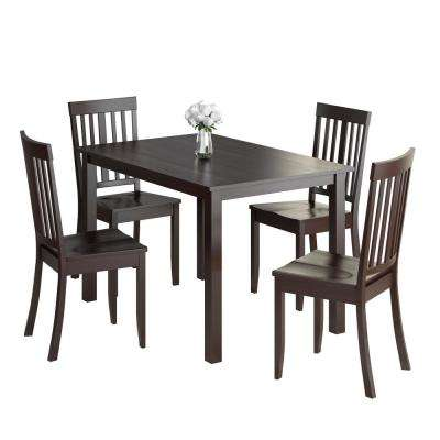 Atwood 5-Piece Cappuccino Stained Dining Set