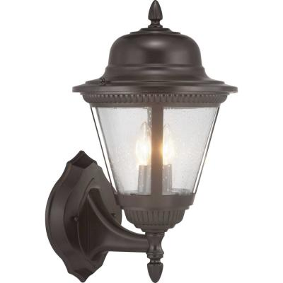 Westport Collection 2-Light Antique Bronze Wall Lantern Sconce