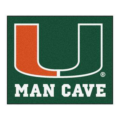 University of Miami Green Man Cave 5 ft. x 6 ft. Area Rug