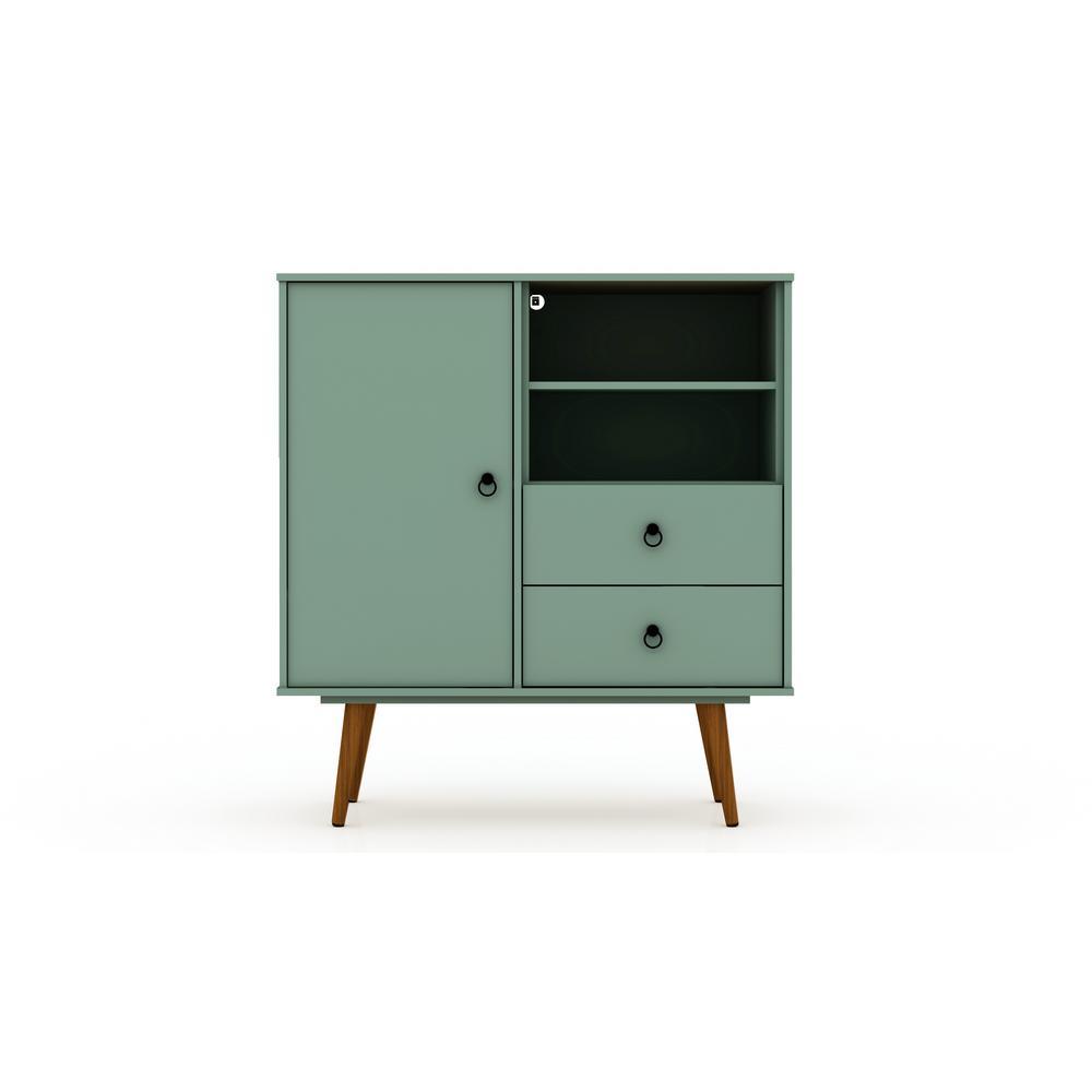 Luxor 2-Drawer Green Mint Montauk Mid-Century Modern Dresser 8PMCHD5