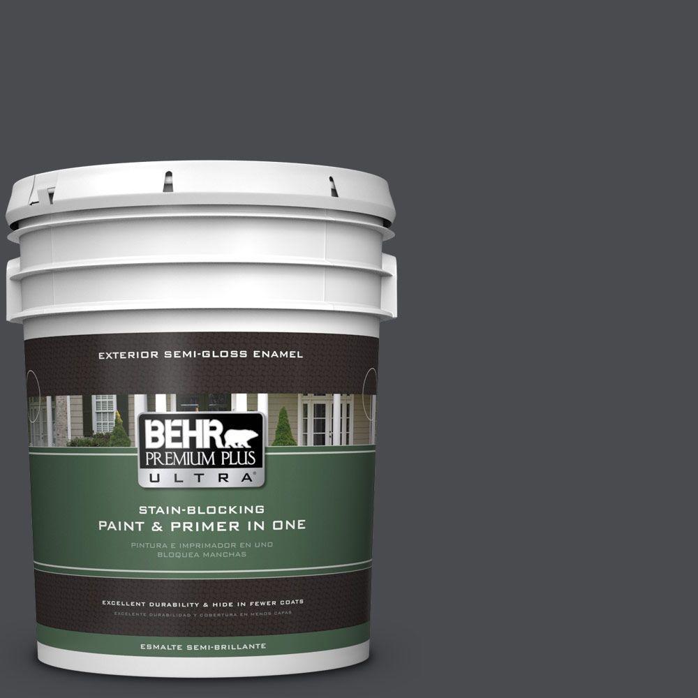 BEHR Premium Plus Ultra 5-gal. #N500-7 Night Club Semi-Gloss Enamel Exterior Paint