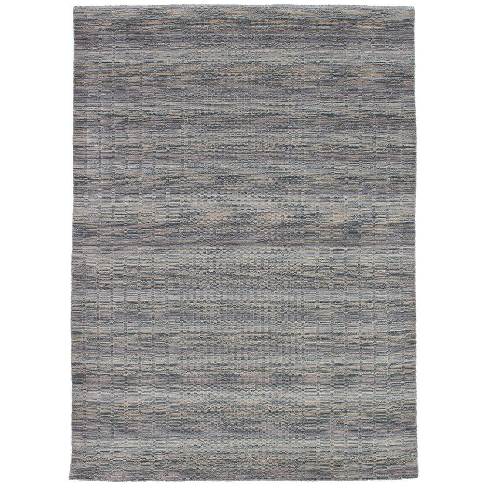 Luribaft Gabbeh Riz Grey, Khaki 5 ft. x 8 ft. Indoor Area Rug