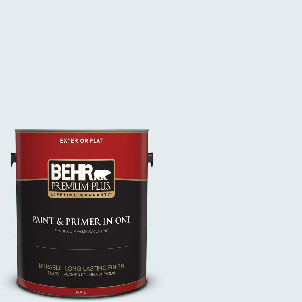 BEHR Premium Plus 1-gal. #530C-1 Club Soda Flat Exterior Paint