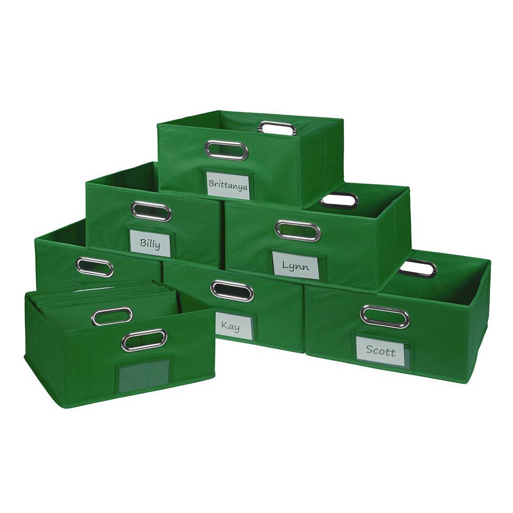 Cubo 12 in. W x 6 in. H Green Folding Fabric Bin (12-Pack)