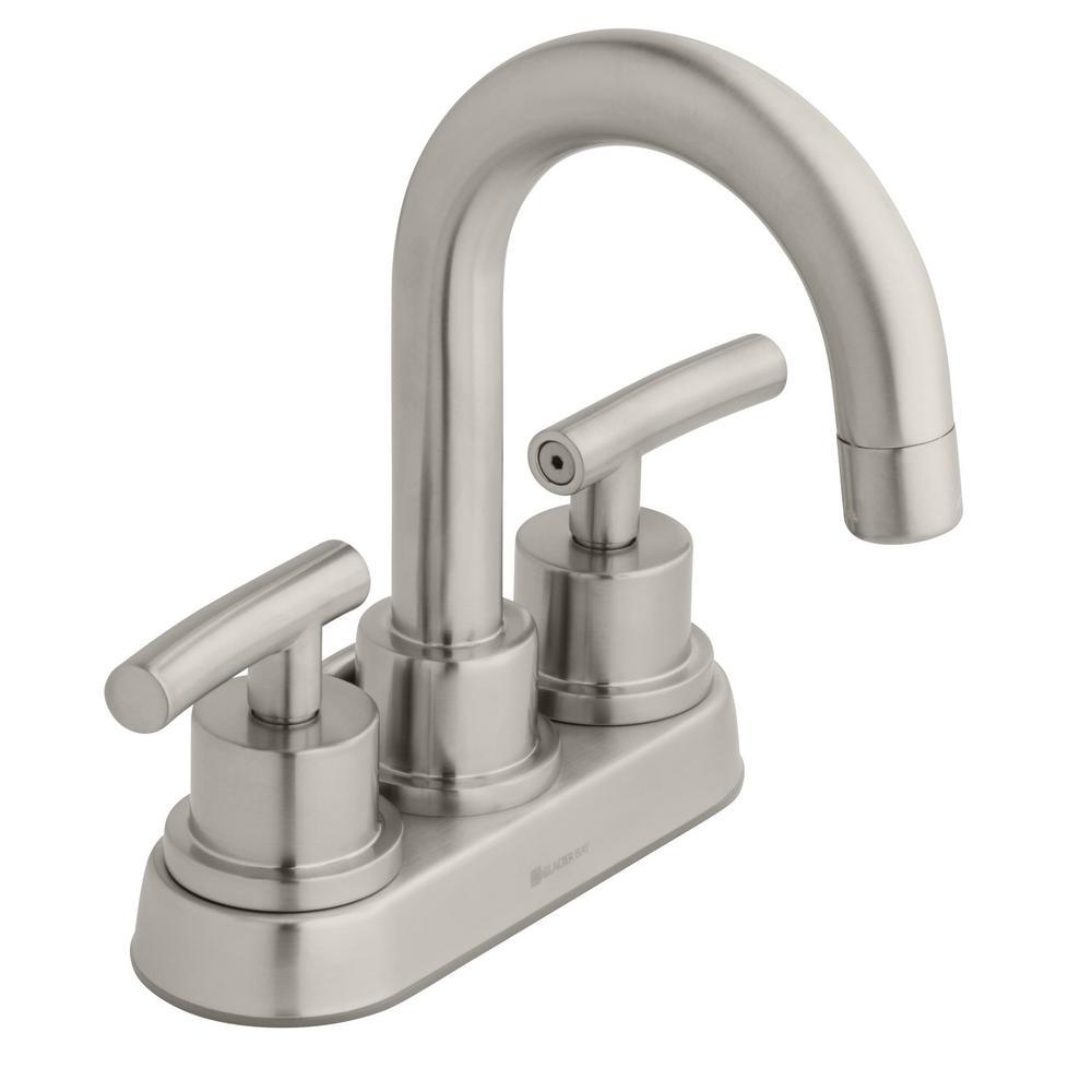 Dorset 4 in. Centerset 2-Handle High-Arc Bathroom Faucet in Brushed Nickel