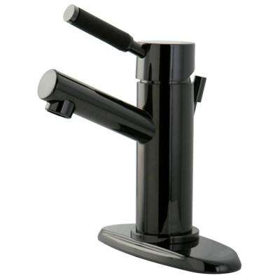 4 in. Centerset Single-Handle Bathroom Faucet in Black Stainless Steel