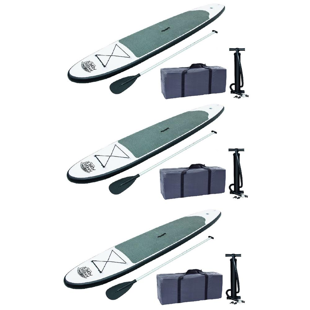 Bestway 122 in. Inflatable Hydro-Force Wave Edge Stand Up Paddle Board (3-Pack)