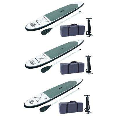 122 in. Inflatable Hydro-Force Wave Edge Stand Up Paddle Board (3-Pack)